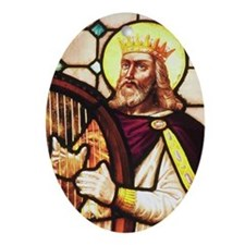 King David the Psalmist Oval Ornament