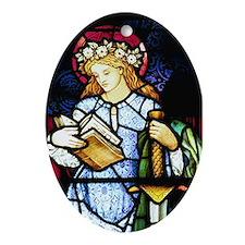 St Catherine of Alexandria Oval Ornament