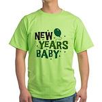 New Years Baby Green T-Shirt