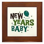 New Years Baby Framed Tile