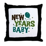 New Years Baby Throw Pillow