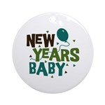 New Years Baby Ornament (Round)