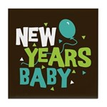New Years Baby Tile Coaster