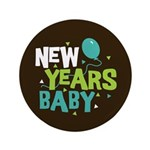 "New Years Baby 3.5"" Button"