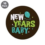 "New Years Baby 3.5"" Button (10 pack)"
