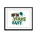 New Years Baby Framed Panel Print