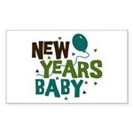 New Years Baby Rectangle Sticker