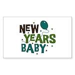 New Years Baby Rectangle Sticker 10 pk)
