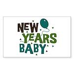 New Years Baby Rectangle Sticker 50 pk)