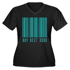 Boy Next Door Women's Plus Size V-Neck Dark T-Shir