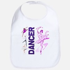 Cute Pink and Purple Ballet D Bib