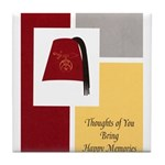 Shriner Greeting Tile Coaster