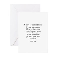 JOHN  13:34 Greeting Cards (Pk of 10)