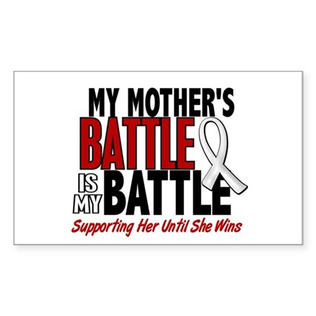 My Battle Too 1 PEARL WHITE (Mother) Sticker (Rect