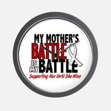 My Battle Too 1 PEARL WHITE (Mother) Wall Clock