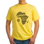 Africa Is A Continent Yellow T-Shirt