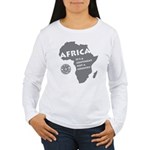 Africa Is A Continent Women's Long Sleeve T-Shirt