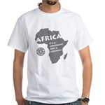 Africa Is A Continent White T-Shirt