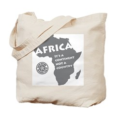 Africa Is A Continent Tote Bag