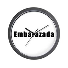 Embarazada (Pregnant in Spanish) Wall Clock