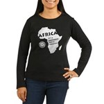Africa Is A Continent Women's Long Sleeve Dark T-S