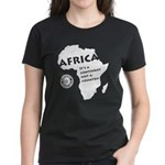 Africa Is A Continent Women's Dark T-Shirt