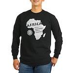 Africa Is A Continent Long Sleeve Dark T-Shirt