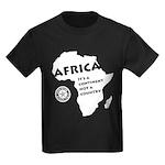 Africa Is A Continent Kids Dark T-Shirt