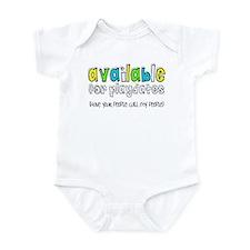 Available Infant Bodysuit