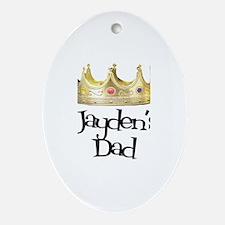 Jayden's Dad Oval Ornament