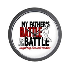 My Battle Too 1 PEARL WHITE (Father) Wall Clock