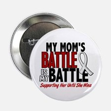 """My Battle Too 1 PEARL WHITE (Mom) 2.25"""" Button"""