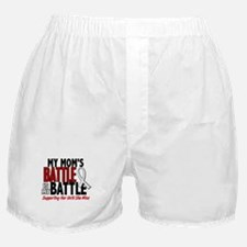 My Battle Too 1 PEARL WHITE (Mom) Boxer Shorts