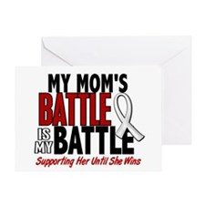 My Battle Too 1 PEARL WHITE (Mom) Greeting Card