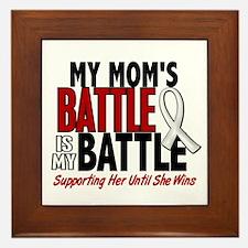My Battle Too 1 PEARL WHITE (Mom) Framed Tile
