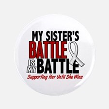 """My Battle Too 1 PEARL WHITE (Sister) 3.5"""" Button"""