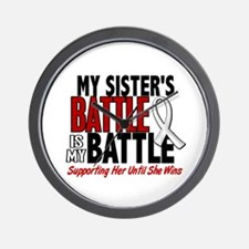 My Battle Too 1 PEARL WHITE (Sister) Wall Clock