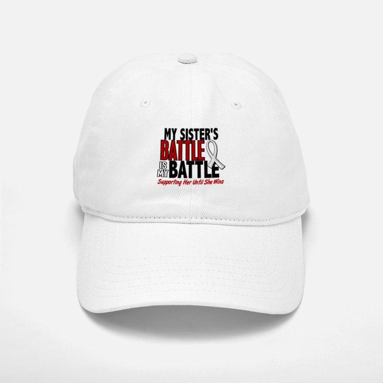 My Battle Too 1 PEARL WHITE (Sister) Baseball Baseball Cap