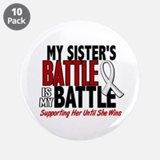 """My Battle Too 1 PEARL WHITE (Sister) 3.5"""" Button ("""