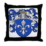 Broers Family Crest Throw Pillow