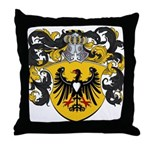 Brouwer Family Crest Throw Pillow