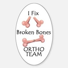 Broken Bone Team Oval Decal