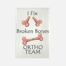 Broken Bone Team Rectangle Magnet