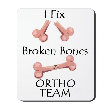 Broken Bone Team Mousepad