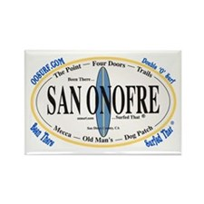 San Onofre Surf Spots Rectangle Magnet