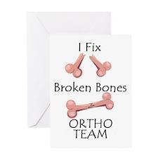 Broken Bone Team Greeting Card