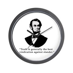 President Lincoln Truth Quote Wall Clock