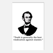 President Lincoln Truth Quote Postcards (Package o