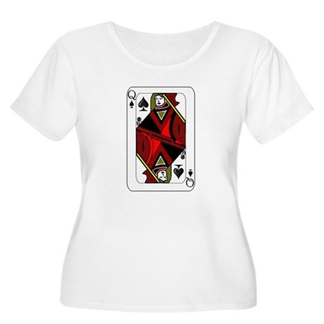 Queen of Spades Card Women's Plus Size Scoop Neck