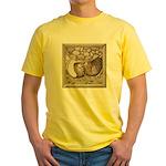 Stone Homer Pigeons Yellow T-Shirt